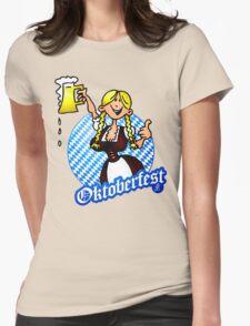 Oktoberfest - girl in a dirndl Womens Fitted T-Shirt