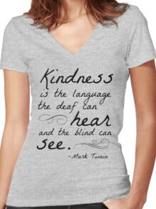 Kindness Women's Fitted V-Neck T-Shirt