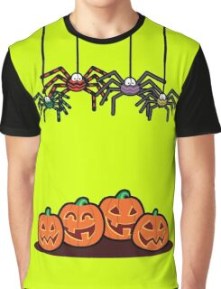 Spiders and Pumpkins Graphic T-Shirt