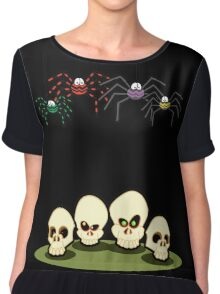 Spiders and Skulls Chiffon Top