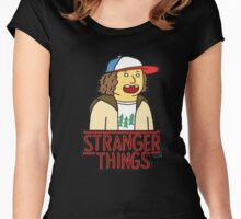 Dustin Stranger Funny Things T-shirt Women's Fitted Scoop T-Shirt