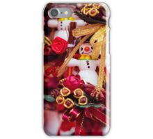 little snowmans as gifts and decorations for christmas iPhone Case/Skin