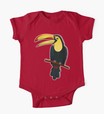 Toucan, Tropical, Bird, Pet, fun, funny One Piece - Short Sleeve