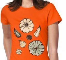 Pumpkin pattern. Womens Fitted T-Shirt