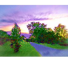 Air Brushed Landscape Photographic Print