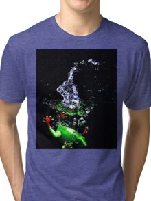 Frogger Splash Tri-blend T-Shirt