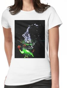 Frogger Splash Womens Fitted T-Shirt