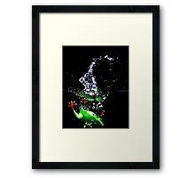 Frogger Splash Framed Print