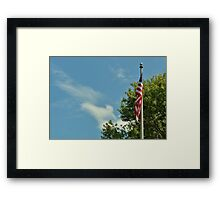 Indivisible, with liberty and justice for all.  Framed Print
