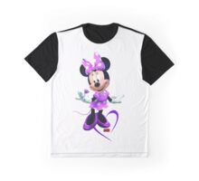 Lady Mouse with Jewel Graphic T-Shirt
