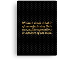 """Winners make a habit... """"Brian Tracy"""" Inspirational Quote Canvas Print"""