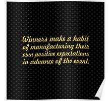 "Winners make a habit... ""Brian Tracy"" Inspirational Quote (Square) Poster"