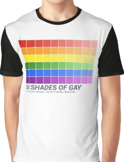 Fifty Shades of Gay Flag (Parody) Graphic T-Shirt