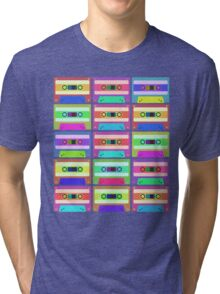 Retro Cassette Tapes Pop Art Tri-blend T-Shirt