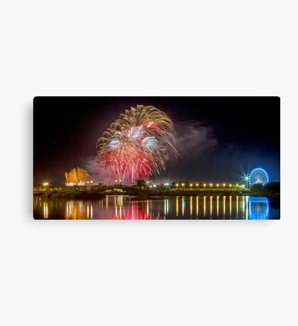 Southport Fireworks Canvas Print
