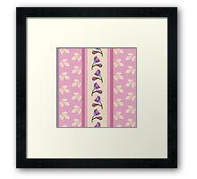 shabby chic,pink,beige,lavender,purple,floral,flowers,elegant,chic,floral,country chic,rustic,vintage Framed Print