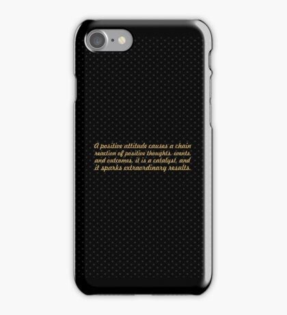 "A Positive attitude...""Wade Boggs"" Inspirational Quote iPhone Case/Skin"