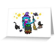 Drache Lilo als kleine Hexe Greeting Card