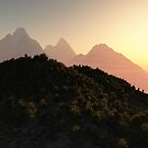 Towering Mountain Peaks by JoreJj Z. Elprehzleinn
