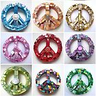 Summer of Peace - Colorful Mosaic Peace Signs by GeminiMoon