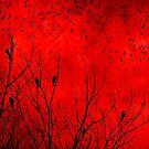 Red bird Scarf by debsrockine