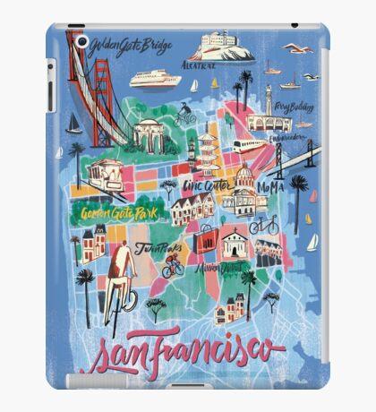 San Francisco illustrated Map iPad Case/Skin