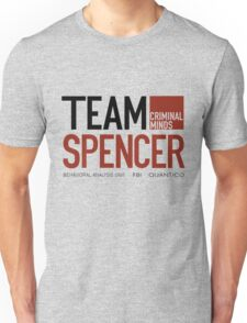 Team Spencer Reid (Black on White) Unisex T-Shirt