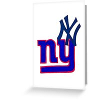 yankees and giants Greeting Card
