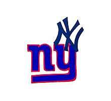 yankees and giants Photographic Print