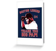 Thank You Big Papi Greeting Card