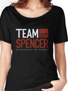 Team Spencer Reid (White on Black) Women's Relaxed Fit T-Shirt