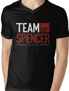Team Spencer Reid (White on Black) Mens V-Neck T-Shirt
