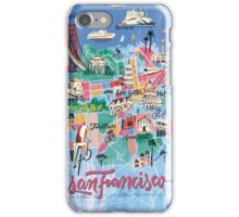 San Francisco illustrated Map iPhone Case/Skin