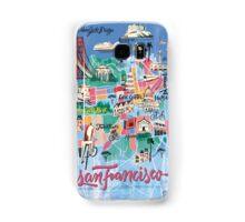 San Francisco illustrated Map Samsung Galaxy Case/Skin