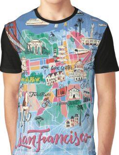San Francisco illustrated Map Graphic T-Shirt