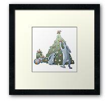 Cartoon rabbits family Framed Print