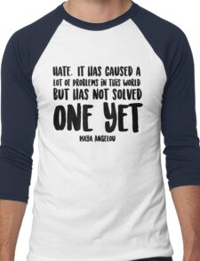 Hate Men's Baseball ¾ T-Shirt