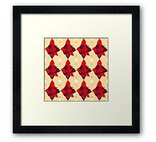 Vintage red rose texture 1 Framed Print