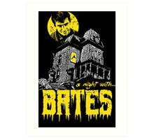 A night with Bates Art Print