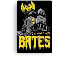 A night with Bates Canvas Print