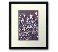 Newspaper Rock .7 Framed Print