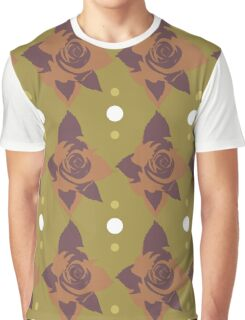 Vintage red rose texture 2 Graphic T-Shirt