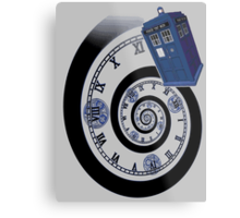 The Twelfth Doctor - time spiral (no white outline) Metal Print