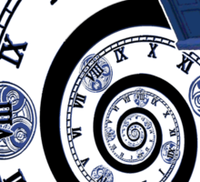 The Twelfth Doctor - time spiral (no white outline) Sticker