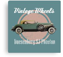 Vintage Wheels: Duesenberg SJ Phaeton Canvas Print