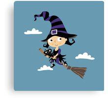 Kleine nette Hexe - Cute Little Witch Canvas Print