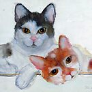 Two sweet  Kittys by Heidi Mooney-Hill