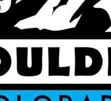 SKIING BOULDER COLORADO MOUNTAINS SKI SNOWBOARD HIKING CLIMBING Sticker