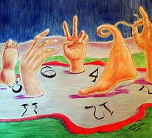 Faire des pieds et des mains - do feet and hands... by Anne Guimond