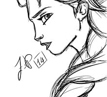Frozen- Elsa Sketch by DesperateGuy